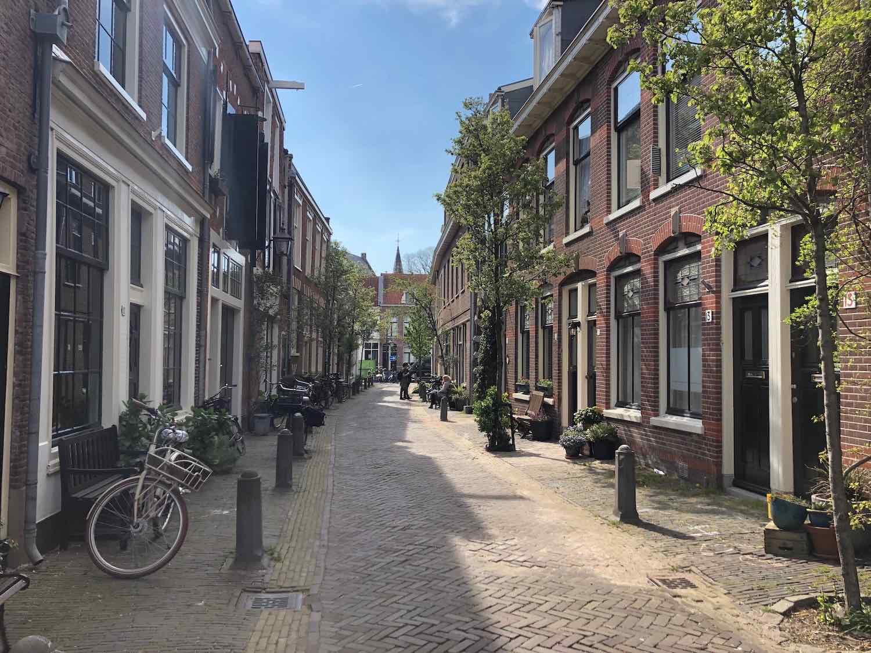 Koophuizen in de Bakenesserbuurt Haarlem.