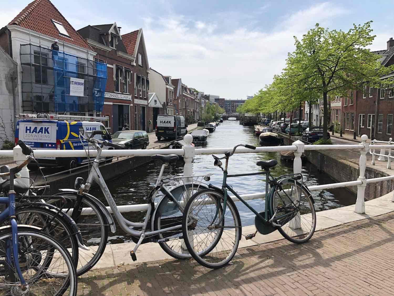 Herensingel uitzicht vanuit koopwoningen in Haarlem
