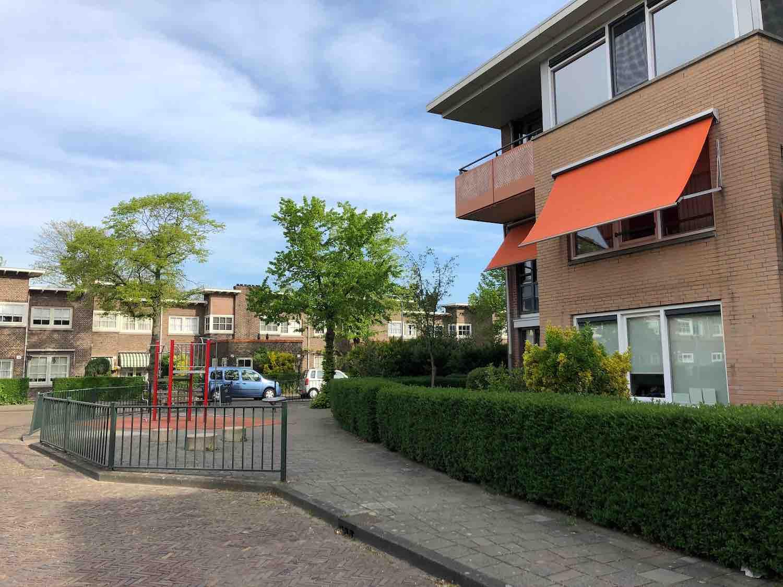 Huurwoningen in de Hasselaersbuurt in het Zijlwegkwartier in Haarlem Zuid-West