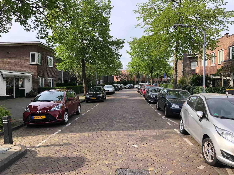 Anslijnstraat koopwoningen en huurwoningen in de Hasselaersbuurt in het Zijlwegkwartier in Haarlem Zuid-West