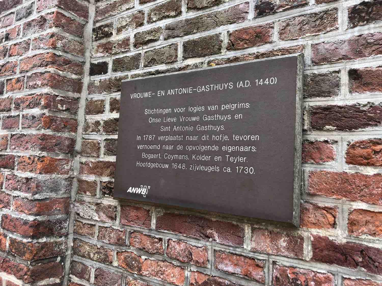 Het Vrouwe- En Antonie- Gasthuys in de Heiliglandenbuurt. Een bekend monument in Haarlem Centrum