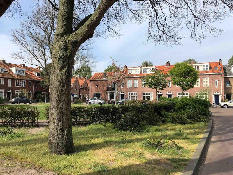 Koopwoningen in het Houtvaartkwartier in Haarlem Zuid.