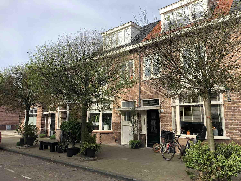 Huurwoningen in de populaire Leidsebuurt oost in het Zijlwegkwartier in Haarlem zuidwest
