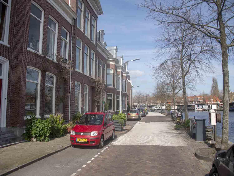 Koopwoningen aan het Spaarne in het Rozenprieel in Haarlem Zuid in het Haarlemmerhoutkwartier