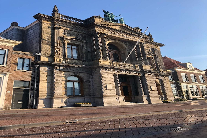 Het Teylers Museum in de binnenstad van Haarlem